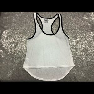 Exist White Small Crop Tank Top